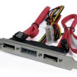 2-SATA to eSATA with External Power PCI Bracket