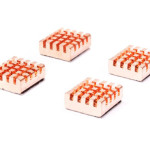Copper Memory Chip Heatsink - 13mm x 12mm x 5mm - 4 Pack