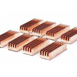 Copper Ramsink Chip Heatsink - 22mm x 8mm x 5mm - 8 Pack